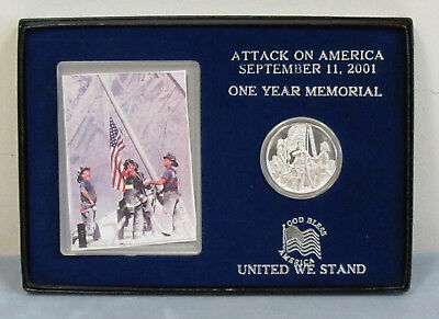 1oz .999 Fine Silver 9-11-2001 Flag Raising, Gift Boxed