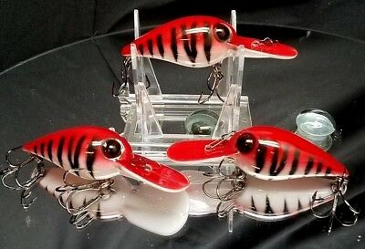 Custom painted K.O style wiggle wart crank bait bass trout minnow shad walleye