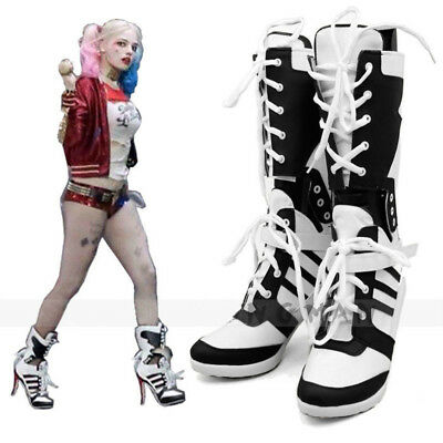 Halloween Harley Quinn DC Suicide Squad, bottes chaussures talon Cosplay Costume
