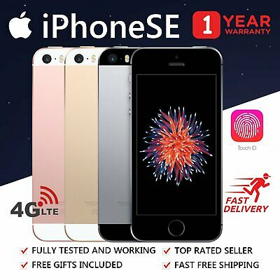 Apple iPhone SE 16GB 64GB Space Grey Silver Rose Gold Unlocked Smartphone AU