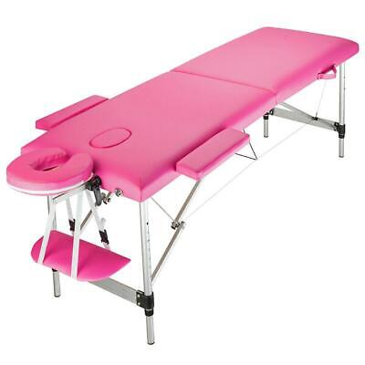 2 Folding Portable Massage Table Facial SPA Supplies Bed Tattoo Aluminum