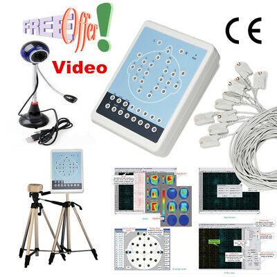CE KT88-1016 Digital 16-Channel EEG Machine& Mapping System,Video Camera,tripods