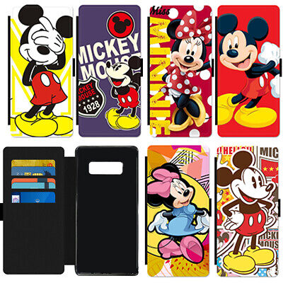 Cute Cartoon Mickey Mouse Popular PU Leather Wallet Phone Case Cover For Samsung