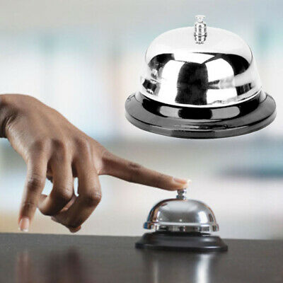 Hotel Counter Desk Bell Ring Reception Restaurant Kitchen Bar Service Stainless
