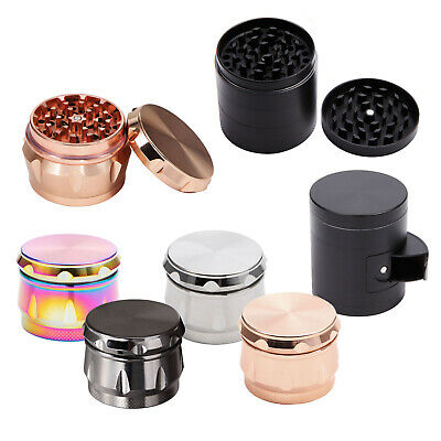 4-5 Layers Zinc Alloy Hand Crank Herb Mill Crusher Tobacco Smoke Grinder 43-55mm