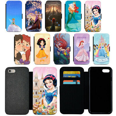 Disney Cartoon Flip PU Leather Wallet Phone Case For iPhone 6 7 8 Plus XR XS MAX