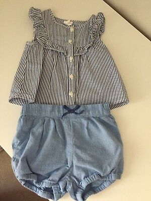 Baby & Toddler Clothing Outfits & Sets Girls 6 Months Blue And White Outfit