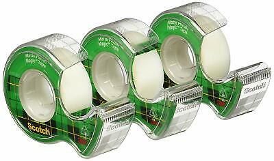 Writable Scotch Transparent Magic Tape Invisible Adhesive Sticky Matte 3 Rolls