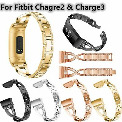 For Fitbit Charge3 2 Smart Watch Women Stainless Steel Watch Band Wrist Strap