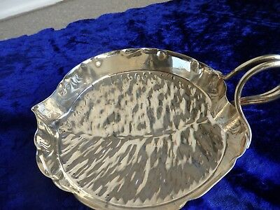 Unusual Antique Victorian Silver Plated Bark Effect Dresser Sauce Boat by H & H