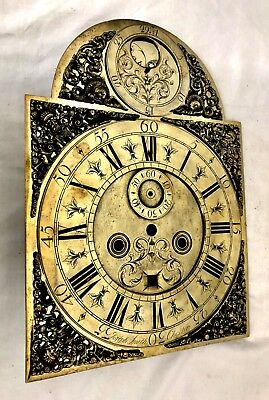 Antique Longcase Grandfather Clock Brass Rolling Moon Dial JOSEPH SMITH CHESTER