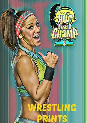 WWE NXT SMACKDOWN LIVE WOMENS CHAMPIONS A4 PRINT 230GSM RETRO POSTER WALL ART