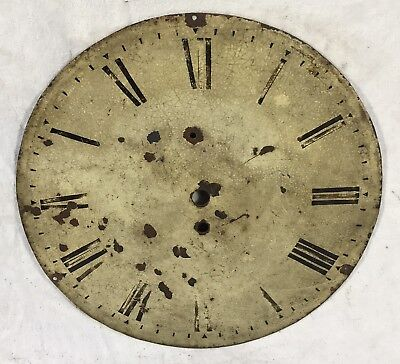 "Lovely Antique Clock Dial Fusee Wall Clock 12"" In Diameter"