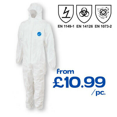 DuPont Tyvek Classic Expert Coverall PPE Spray Suit Hooded Protective Chemical