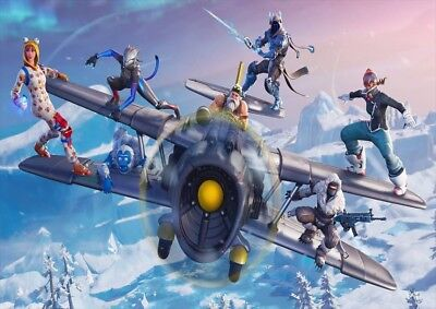 Fortnite Gaming Ps4 Xbox Large Posters Wall Art Picture Print Size A2