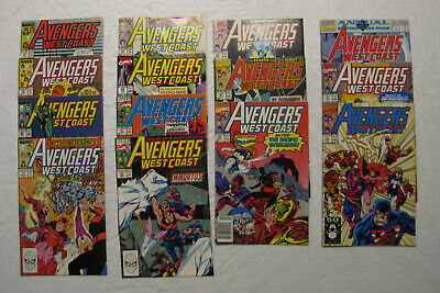 Avengers West Coast 47,50,52-54,59,61,62,66,67,70,73,74,Annual 6 (FN+ to VF/NM)
