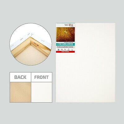 Blank Professional Stretched Cotton Canvas, Triple Acrylic Primer, Best Quality