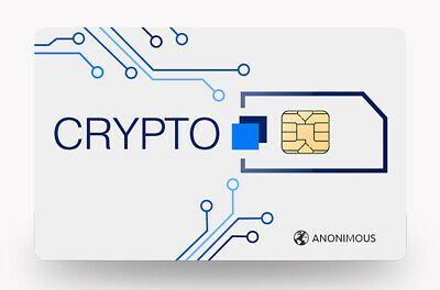 Travel SIM Anonimous Crypto SIM VPN Worldwide 4G from 0.01e.p/mb 0.25p/m calls