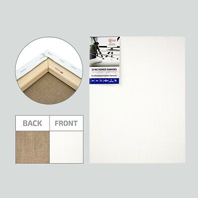 Blank Professional Stretched 100% Linen Canvas, 4 Layers of Oil-emulsion Primer