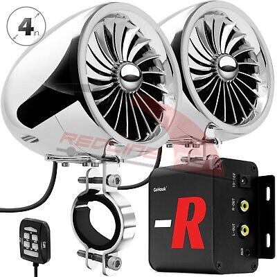 Waterproof Bluetooth Motorcycle Stereo Speaker Amplifier System MP3 FM Radio AUX