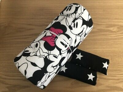 White Pink stars Minnie Mouse Disney Seat Liner Stroller Mattress 100% Cotton