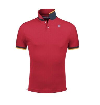 Polo K-Way uomo vincent contrast red ss19