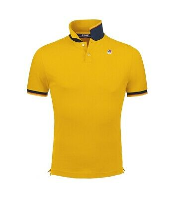 Polo K-Way uomo vincent contrast yellow ss19