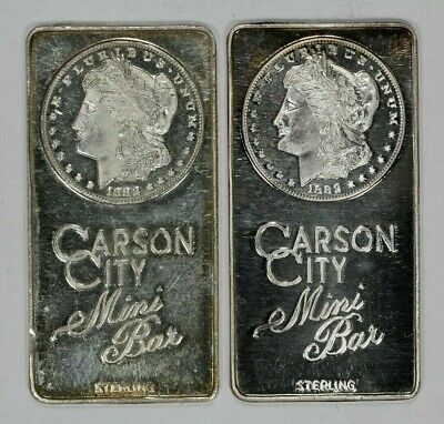 Carson City Sterling Mini Bar Vintage Lot Of Two (9196)