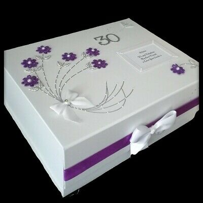 PERSONALISED 30TH BIRTHDAY Gift Large Keepsake Memory Box Best