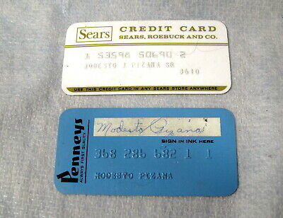 Vintage Sears & J C Penny Expired Store Charge Credit Cards
