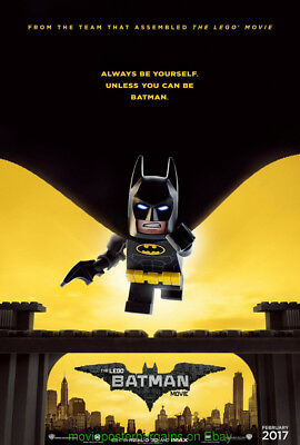 THE LEGO BATMAN MOVIE POSTER Original MINT DS 27x40 Advance Style 2017