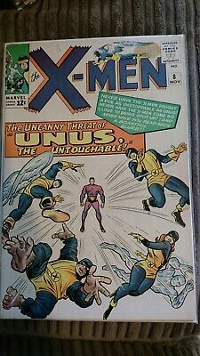 The Uncanny X-Men #8 Silver Age Comic, First Appearance Of Unus The Untouchable