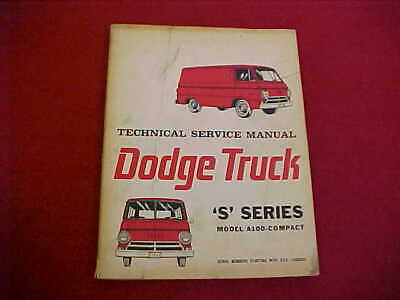 1964 dodge a 100 van pickup shop service repair manual + wiring diagrams 64  oem