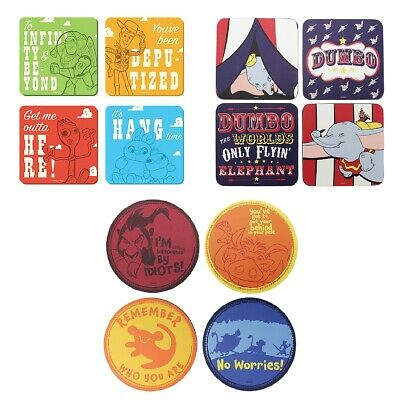 Set of 4 Coasters - Genuine Disney Drinks Mat Gift Dumbo The Lion King Toy Story