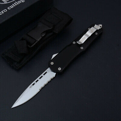 Coltello Microtech Ultra Black Single Srt Da Collezione Edc Hunt Balisong Otf