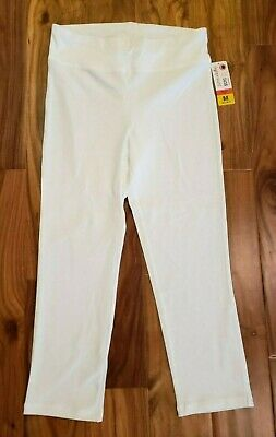 0862649668945 NWT Women's JUNE & DAISY Bright White Stretch Wide Waistband Capris Size XL