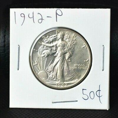 1942-P WALKING LIBERTY HALF DOLLAR BRILLIANT UNCIRCULATED >>>Make Us An Offer<<<