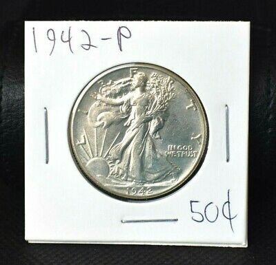 1942-P WALKING LIBERTY HALF DOLLAR BRILLIANT UNCIRCULATED>>>Make Us An Offer<<<