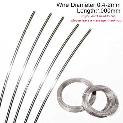 Spring Wire 0.4-2mm Dia 304 Stainless Steel Wire Various Sizes 1000mm Long Round