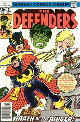 Defenders (1st Series) #51 1977 VG- 3.5 Stock Image Low Grade