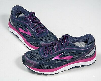 888f284ef81c9 Women s Brooks Dyad 9 Gray Purple White Low Running Shoes Wide - US 8.5