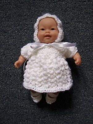 4pce White set Hand Knitted Dolls Clothes 20cm 8inch