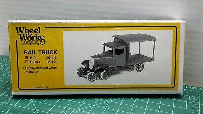 Item #96-113 HO Scale Wheel Works /'Rail Truck/' KIT