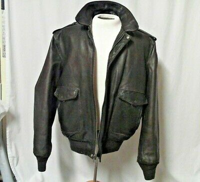 356b22df5 SCHOTT NYC A2 Flight Jacket Men's size 48 Style #184SM Naked Cowhide  Leather USA