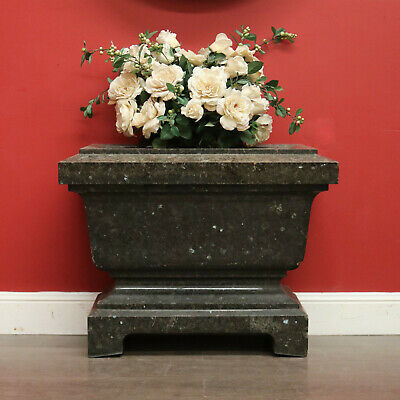 Antique French Solid Granite Jardiniere Planter Box Pot Planter Garden Trough