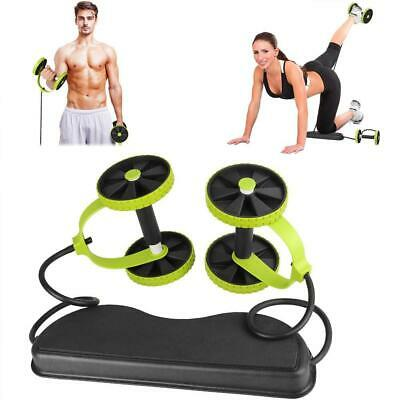Double Wheels Ab Roller Pull Rope Waist Abdominal Slimming Equipment Pull