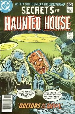 Secrets of Haunted House #21 1980 VG Stock Image Low Grade