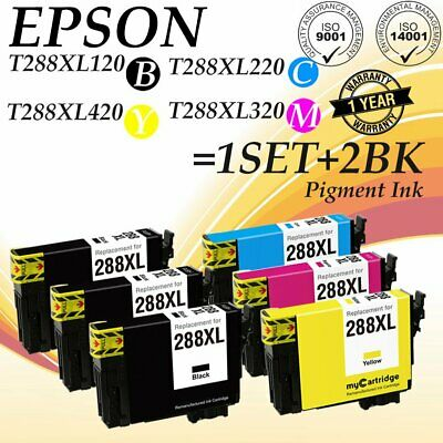 6 Pack/Pk 288 288XL T288XL CMYK Ink Non-OEM For Epson XP-330 430 446 434 340 440
