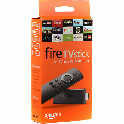Amazon Fire TV Stick (2nd Generation) Media Streamer - With Alexa Voice Remote