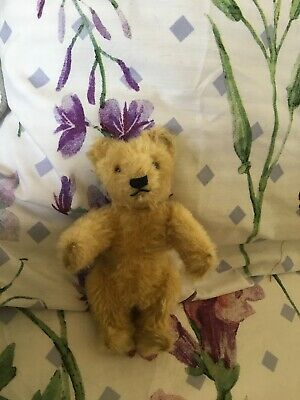 Antique Vintage Steiff Teddy Bear - With Raised Script Button, 6 Inches Tall